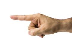 указывать руки левый мыжской Стоковое Изображение RF