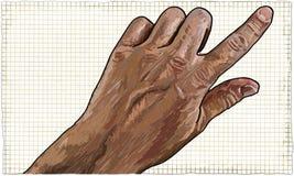 указывать руки перста Стоковые Фото