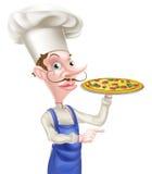Указывать шеф-повара пиццы Стоковая Фотография