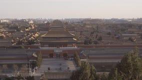 укладка в форме 4k снятая запретного города в Пекине акции видеоматериалы