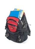 укладывайте рюкзак книги стоковое изображение