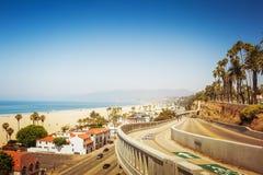 Уклон Калифорния в Санта-Моника стоковые фото