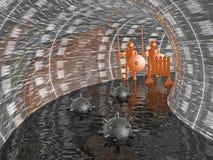 Укомплектовывает личным составом на тоннеле Стоковая Фотография RF