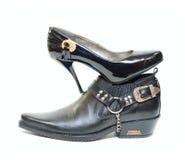 укомплектовывает личным составом womans ботинок Стоковые Фото