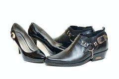 укомплектовывает личным составом womans ботинок Стоковое Фото