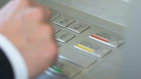 Укомплектуйте личным составом вводить код штыря, совершать ошибка и отжимать кнопку коррекции на ATM сток-видео