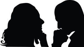 укомплектуйте личным составом женщину профиля Стоковое Изображение RF
