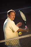 укомплектуйте личным составом играть старший теннис Стоковая Фотография