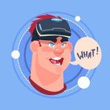 Укомплектуйте личным составом какое мужское Emoji нося виртуальную концепцию выражения лица воплощения значка эмоции стекел 3d Стоковое Изображение