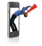 укомплектуйте личным составом кричать мегафона Стоковая Фотография