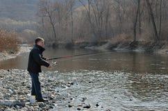 Укомплектуйте личным составом на рыболовстве 14 Стоковые Изображения RF