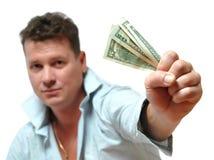 укомплектуйте личным составом деньги Стоковое Изображение