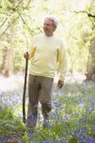 укомплектуйте личным составом outdoors сь личным составом гулять ручки Стоковое Фото