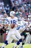 Укомплектовывать личным составом Indianapolis Colts QB Peyton Стоковое Изображение RF