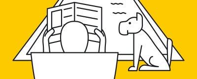 Укомплектуйте личным составом газету чтения бассейном на празднике Стоковые Фотографии RF