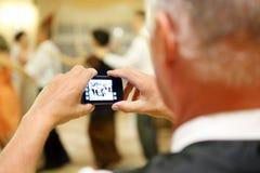 Укомплектуйте личным составом делать изображение во время партии приема Стоковые Фото
