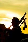 Человек с трубами Стоковые Фото