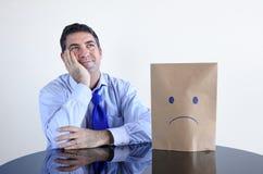 Укомплектуйте личным составом изменять его настроение от плохого к хорош Стоковая Фотография RF