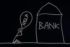 Укомплектуйте личным составом искать финансовая помощь, идя накренить, понедельник Стоковая Фотография