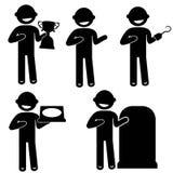 Укомплектуйте личным составом основное дело одежды знака значка людей позиции Стоковое Изображение RF