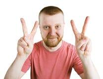 Укомплектуйте личным составом показывать его руки, то все хорошо стоковая фотография
