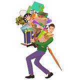 Укомплектуйте личным составом покупки и снесите много выдвиженческих продуктов от продаж магазина Супер мега продажа бонуса иллюстрация штока