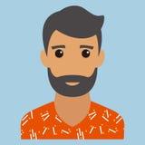 укомплектуйте личным составом портрет фасоли Современное воплощение Плоское illustrat вектора дизайна иллюстрация вектора