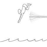 Укомплектуйте личным составом подныривание в воду Стоковые Фотографии RF