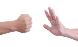 Укомплектуйте личным составом руку. Стоковое фото RF