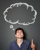 Укомплектуйте личным составом смотреть и указывать до пустой речи пузыря Стоковое Изображение