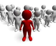 Укомплектуйте личным составом характер 3d водя показывая команду и руководство бесплатная иллюстрация