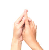 Укомплектуйте личным составом forefinger руки с болью на белой предпосылке, здравоохранении a стоковое фото