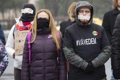 УКРАДЕННОЕ ПРАВОСУДИЕ - международный протест Стоковые Изображения RF