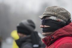 УКРАДЕННОЕ ПРАВОСУДИЕ - международный протест Стоковые Фотографии RF