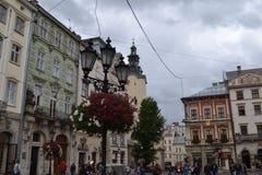 Украина город Львова Взгляд города стоковое изображение