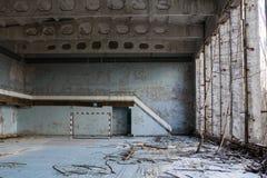 Украина Зона отчуждения Чернобыль - 2016 03 19 Здания в покинутом городе Pripyat Стоковые Фотографии RF