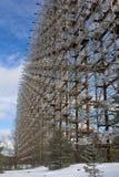 Украина Зона отчуждения Чернобыль - 2016 03 20 Советский объект DUGA радиолокатора Стоковые Изображения