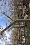 Украина Зона отчуждения Чернобыль - 2016 03 20 Советский объект DUGA радиолокатора Стоковое фото RF