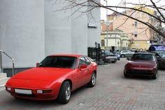 Украина, Киев; 20-ое марта 2014; Супер комбинированные автомобили Порше Порше Turbo стоковые изображения