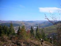 Украина прикарпатский взгляд сверху гор Стоковые Фотографии RF