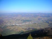 Украина прикарпатский взгляд сверху гор Стоковые Изображения RF