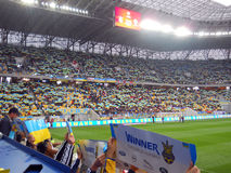 Украина против Беларуси Стоковая Фотография