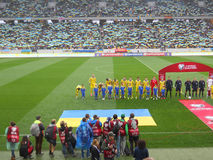 Украина против Беларуси Стоковые Фотографии RF