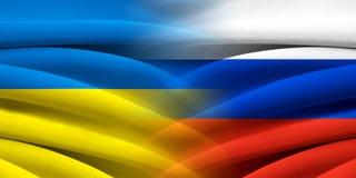 Украина ПРОТИВ России стоковые фотографии rf