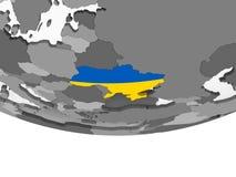 Украина с флагом на глобусе бесплатная иллюстрация
