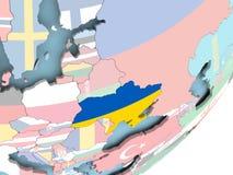 Украина с флагом бесплатная иллюстрация