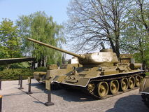 Украина kiev Мемориальный комплекс музея Великой Отечественной войны Воинское оборудование бак 34 t Стоковые Фотографии RF