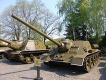 Украина kiev Мемориальный комплекс музея Великой Отечественной войны Воинское оборудование Разоритель танка Стоковые Изображения