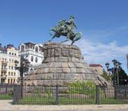 Украина kiev Памятник к Bogdan Khmelnitsky стоковое изображение rf