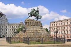 Украина kiev Памятник к Bogdan Khmelnitsky стоковое изображение